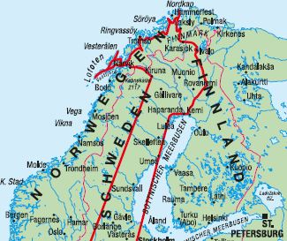 Finnland Karte Regionen.Ag Traveltrend