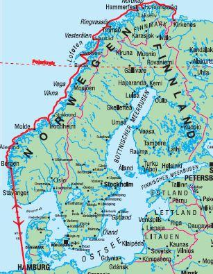 Karte Norwegen Hurtigruten.Ag Traveltrend