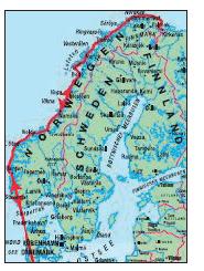 Hurtigruten Karte Bergen-Kirkenes-Bergen