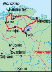 Karte Norwegen Mit Polarkreis.Ag Traveltrend